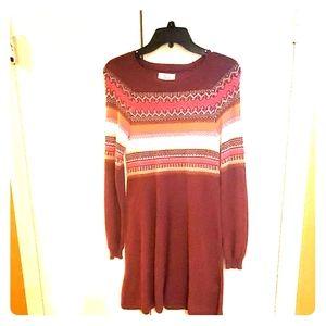 Girls Justice Multi color Sweater Dress Sz 16